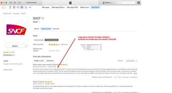 itunes app store insight utilisateur
