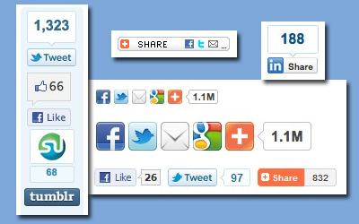 boutons de partage réseaux sociaux