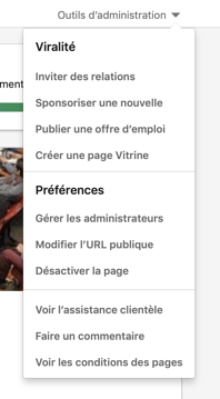 outils d'administration linkedin