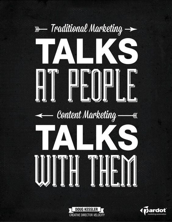 traditional marketing VS content marketing